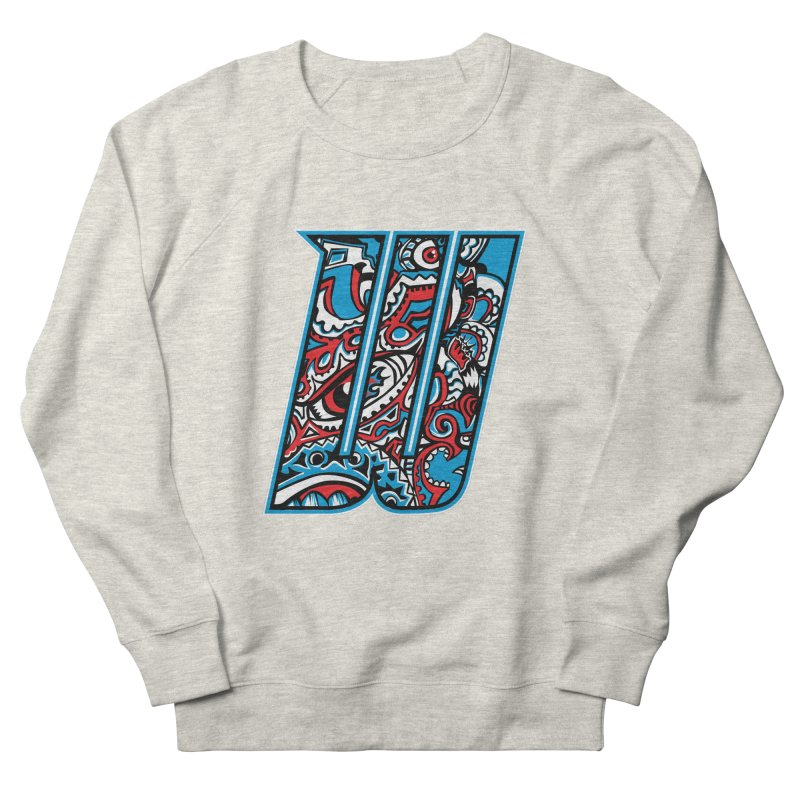 Crazy Face_W001 Men's French Terry Sweatshirt by Art of Yaky Artist Shop