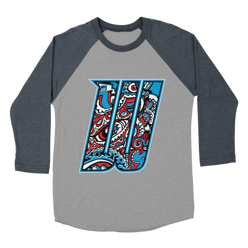 Crazy Face_W001 Women's Baseball Triblend Longsleeve T-Shirt by Art of Yaky Artist Shop