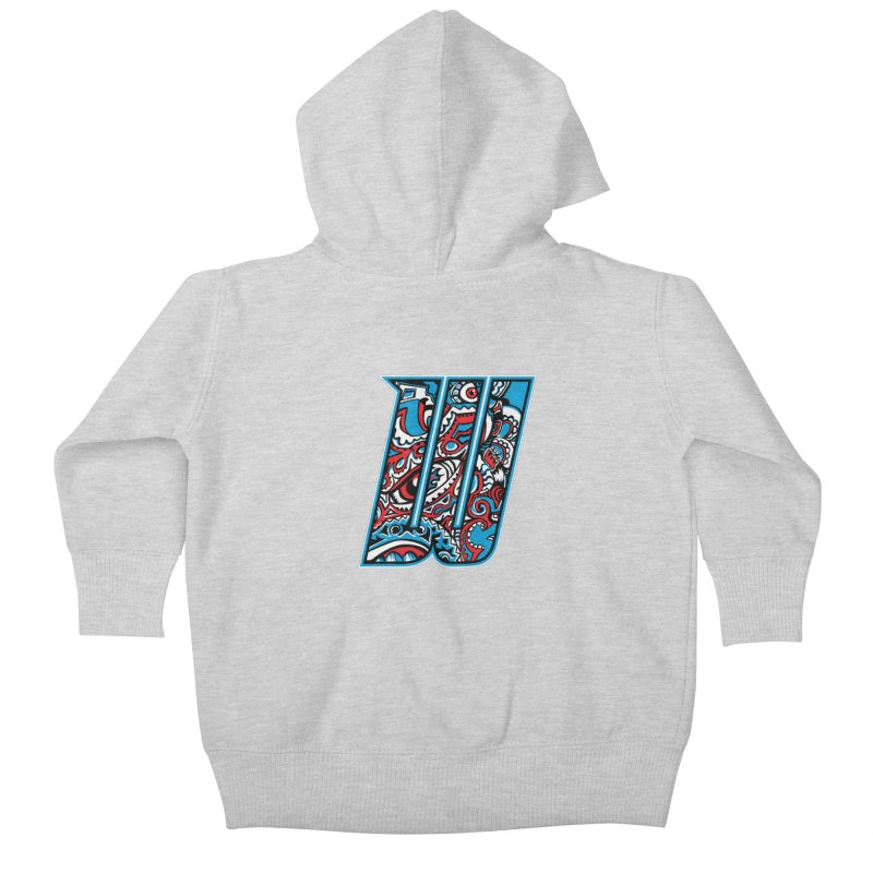 Crazy Face_W001 Kids Baby Zip-Up Hoody by Art of Yaky Artist Shop