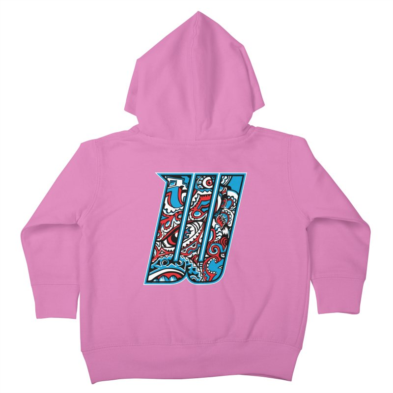 Crazy Face_W001 Kids Toddler Zip-Up Hoody by Art of Yaky Artist Shop