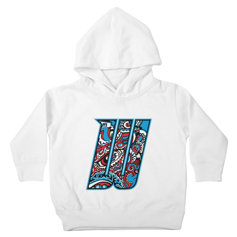 Crazy Face_W001 Kids Toddler Pullover Hoody by Art of Yaky Artist Shop