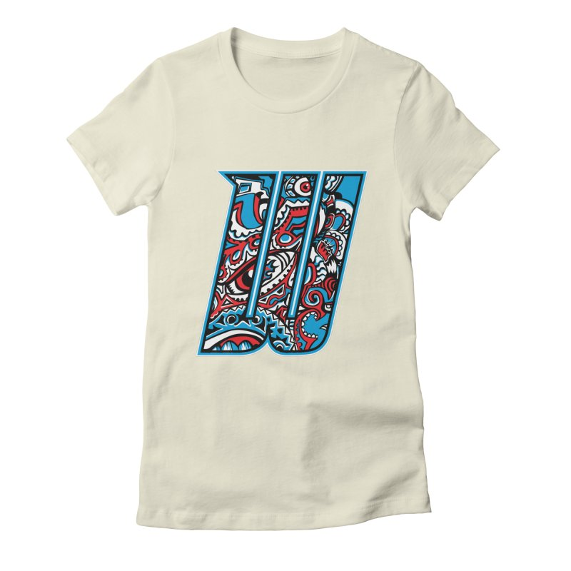 Crazy Face_W001 Women's Fitted T-Shirt by Art of Yaky Artist Shop