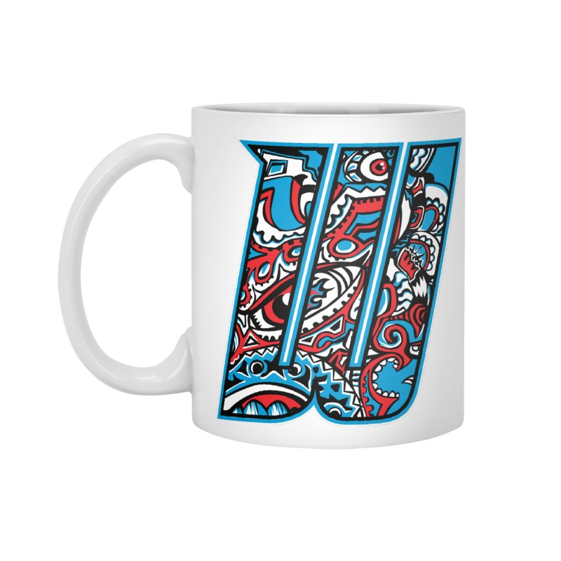 Crazy Face_W001 Accessories Mug by Art of Yaky Artist Shop