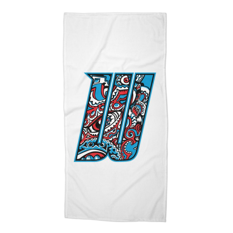 Crazy Face_W001 Accessories Beach Towel by Art of Yaky Artist Shop