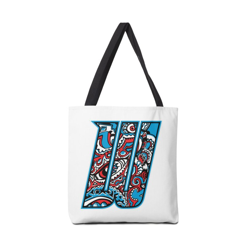 Crazy Face_W001 Accessories Bag by Art of Yaky Artist Shop
