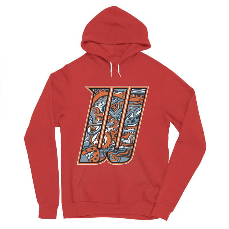Crazy Face_W002 Women's Pullover Hoody by Art of Yaky Artist Shop