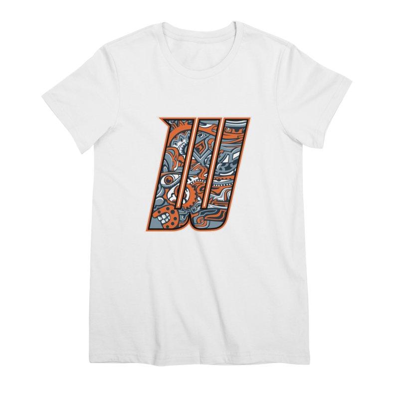 Crazy Face_W002 Women's Premium T-Shirt by Art of Yaky Artist Shop