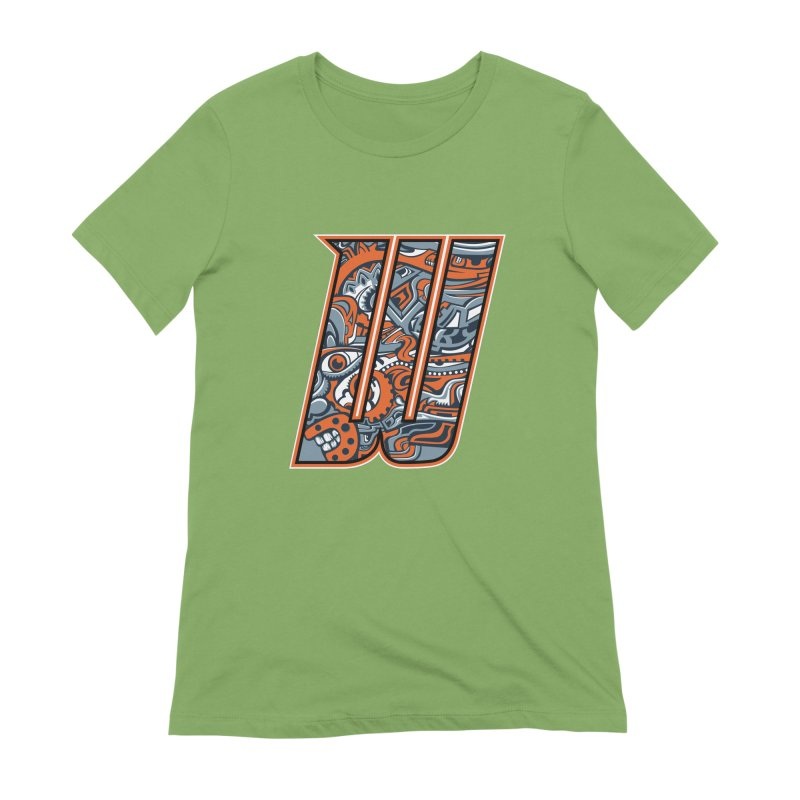 Crazy Face_W002 Women's Extra Soft T-Shirt by Art of Yaky Artist Shop