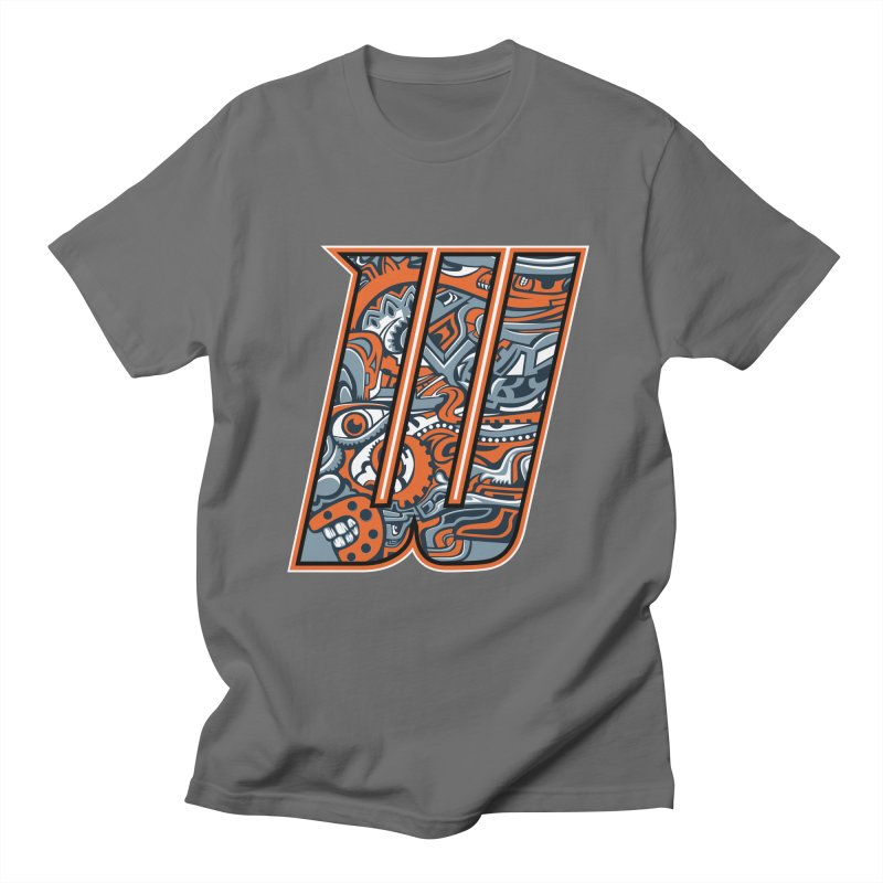 Crazy Face Alphabet (W) Men's T-Shirt by Yaky's Customs