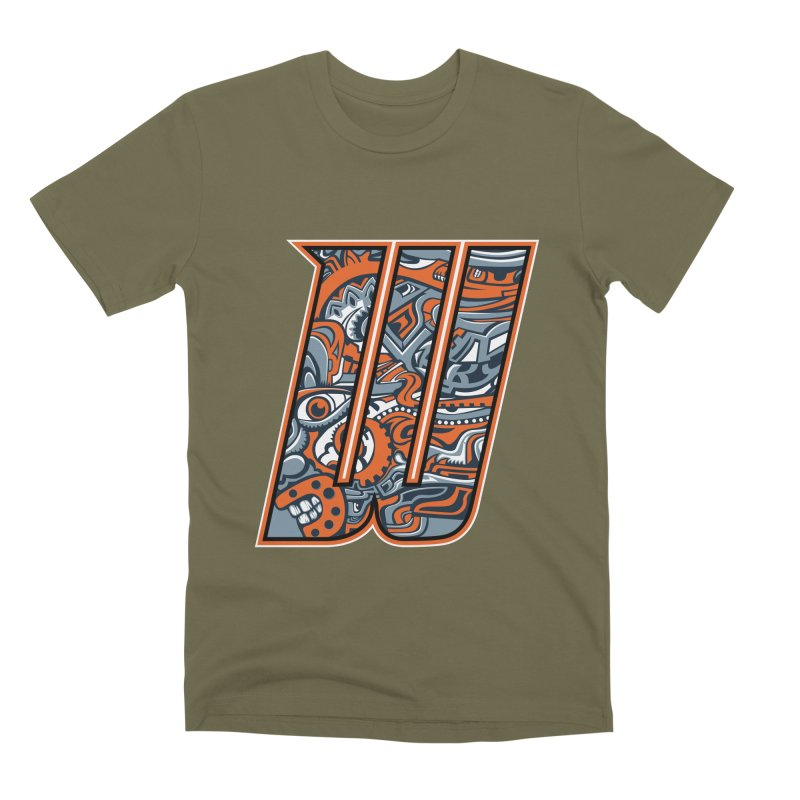 Crazy Face_W002 Men's Premium T-Shirt by Art of Yaky Artist Shop