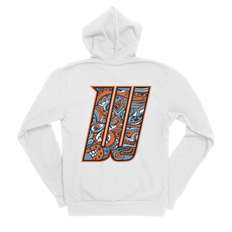 Crazy Face_W002 Men's Zip-Up Hoody by Art of Yaky Artist Shop