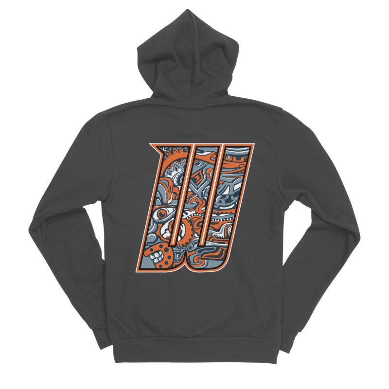 Crazy Face_W002 Women's Sponge Fleece Zip-Up Hoody by Art of Yaky Artist Shop
