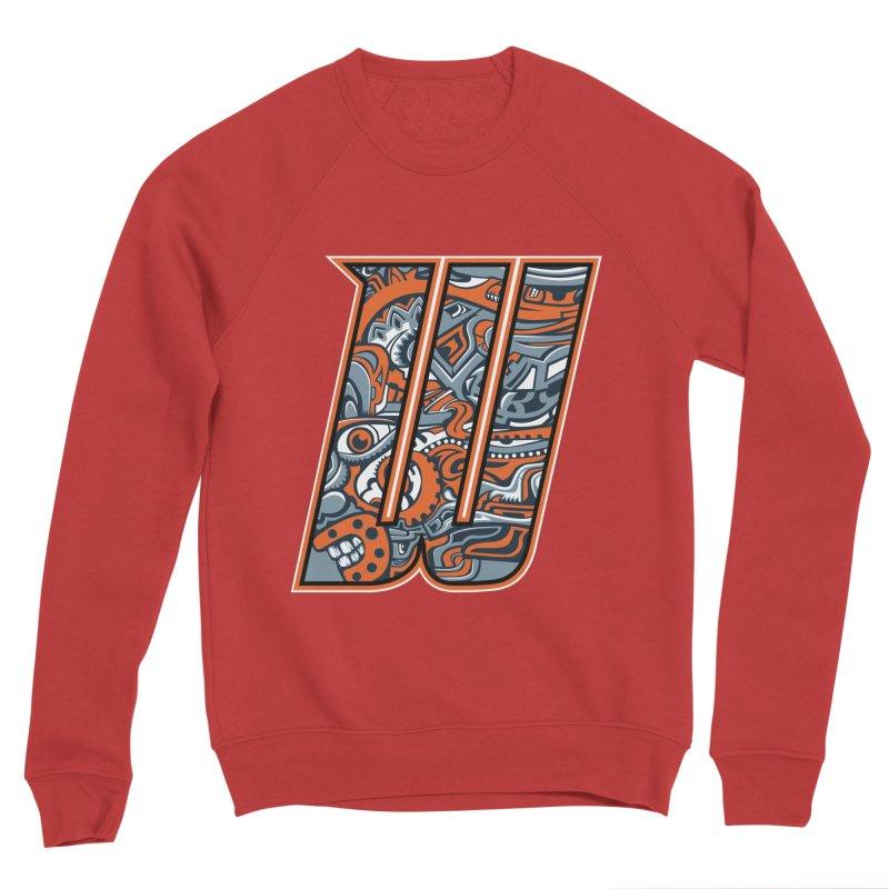 Crazy Face_W002 Men's Sponge Fleece Sweatshirt by Art of Yaky Artist Shop