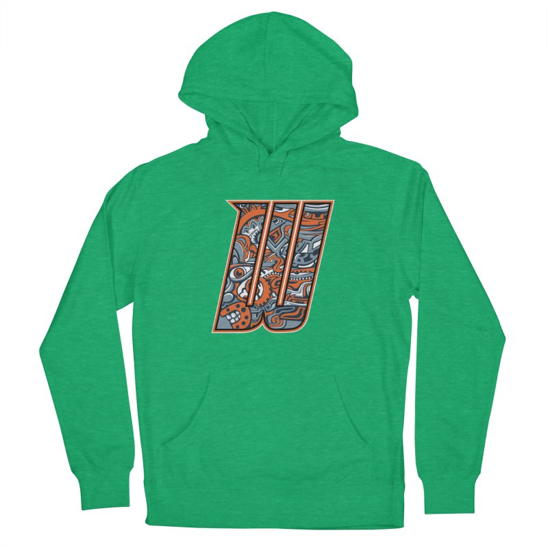 Crazy Face_W002 Men's French Terry Pullover Hoody by Art of Yaky Artist Shop