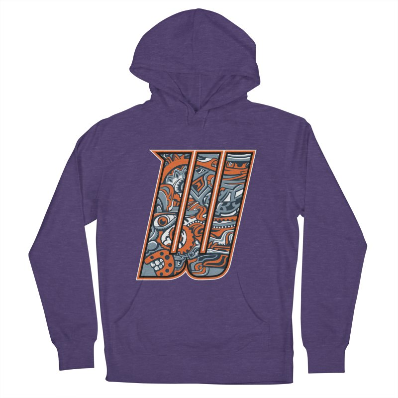 Crazy Face_W002 Women's French Terry Pullover Hoody by Art of Yaky Artist Shop