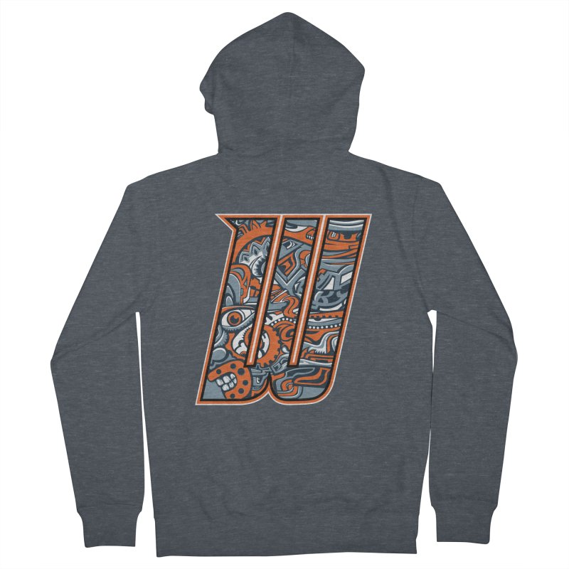 Crazy Face_W002 Women's Zip-Up Hoody by Art of Yaky Artist Shop