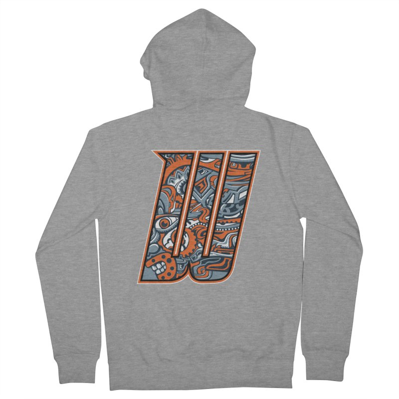 Crazy Face_W002 Women's French Terry Zip-Up Hoody by Art of Yaky Artist Shop