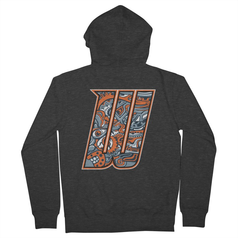 Crazy Face_W002 Men's French Terry Zip-Up Hoody by Art of Yaky Artist Shop