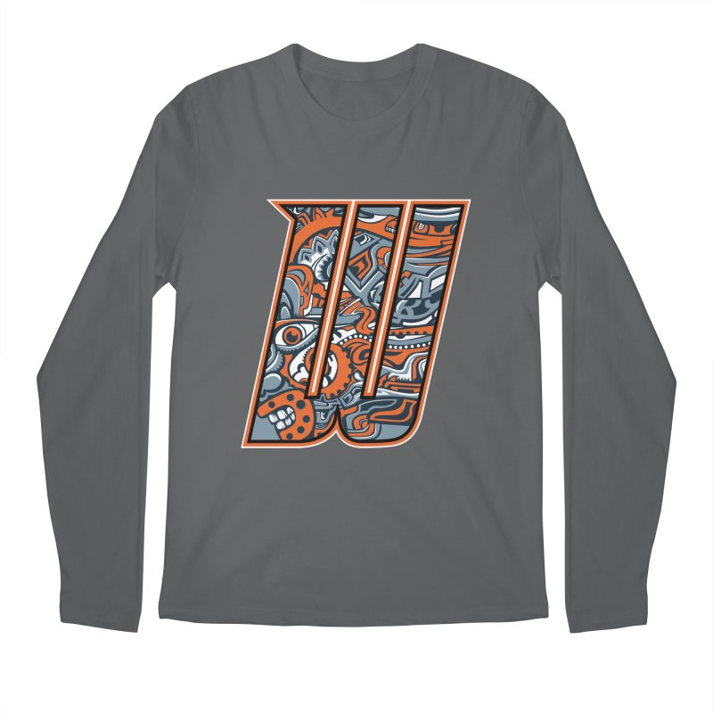 Crazy Face_W002 Men's Regular Longsleeve T-Shirt by Art of Yaky Artist Shop