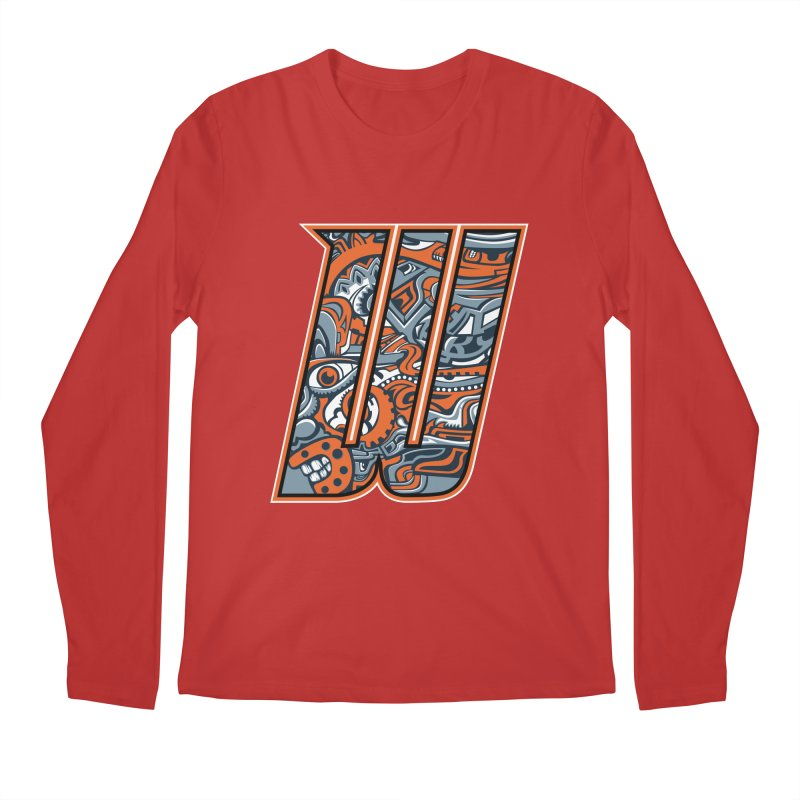 Crazy Face_W002 Men's Regular Longsleeve T-Shirt by Art of Yaky Artist Shop