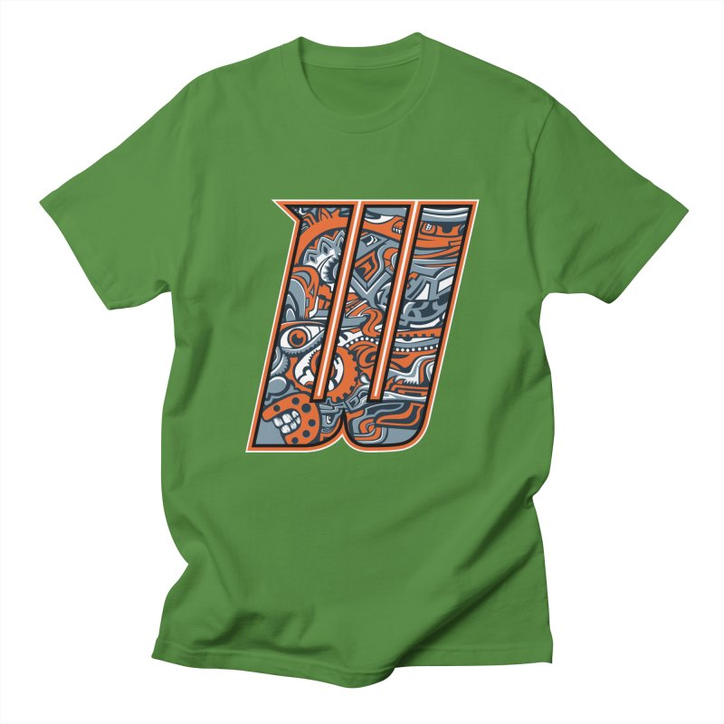 Crazy Face_W002 Men's Regular T-Shirt by Art of Yaky Artist Shop