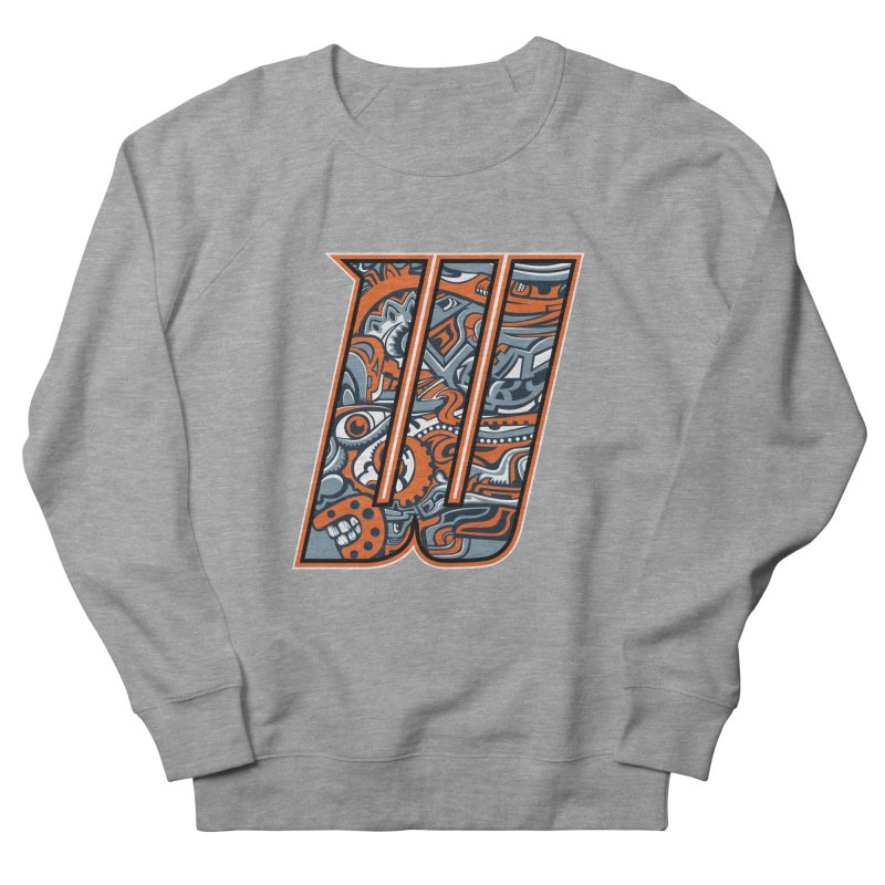 Crazy Face_W002 Women's French Terry Sweatshirt by Art of Yaky Artist Shop