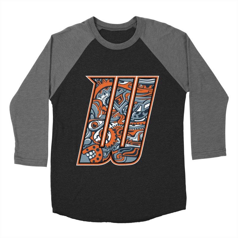 Crazy Face_W002 Men's Baseball Triblend Longsleeve T-Shirt by Art of Yaky Artist Shop