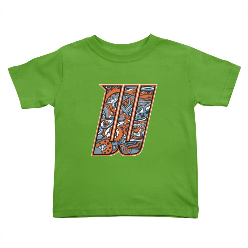 Crazy Face_W002 Kids Toddler T-Shirt by Art of Yaky Artist Shop