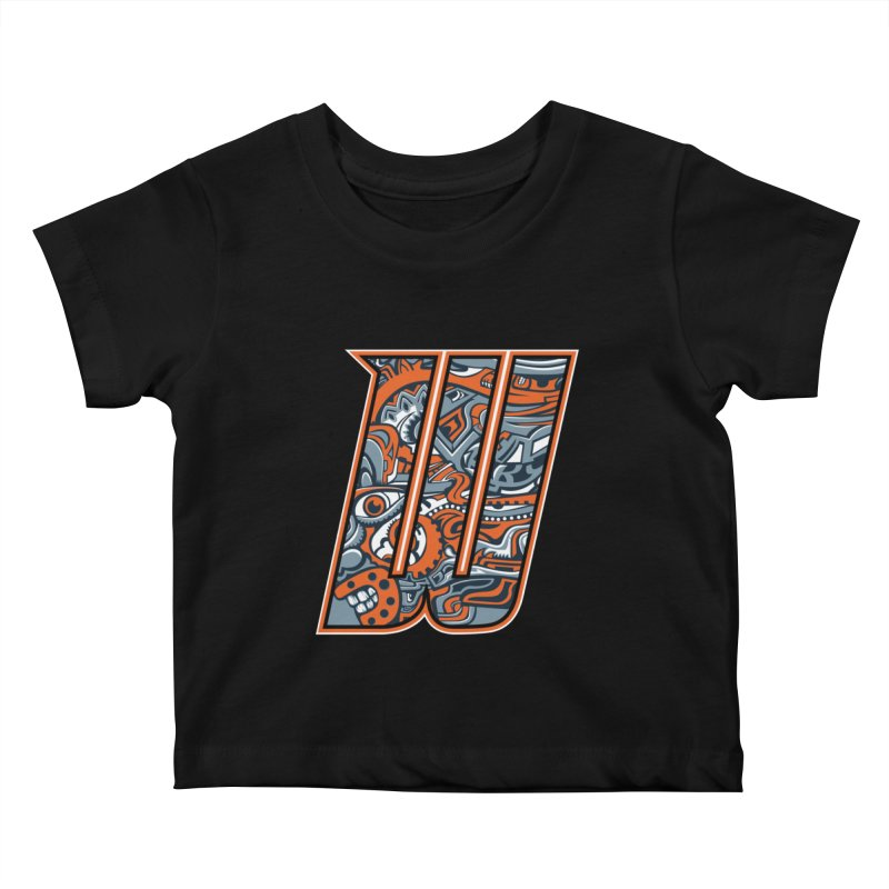 Crazy Face_W002 Kids Baby T-Shirt by Art of Yaky Artist Shop
