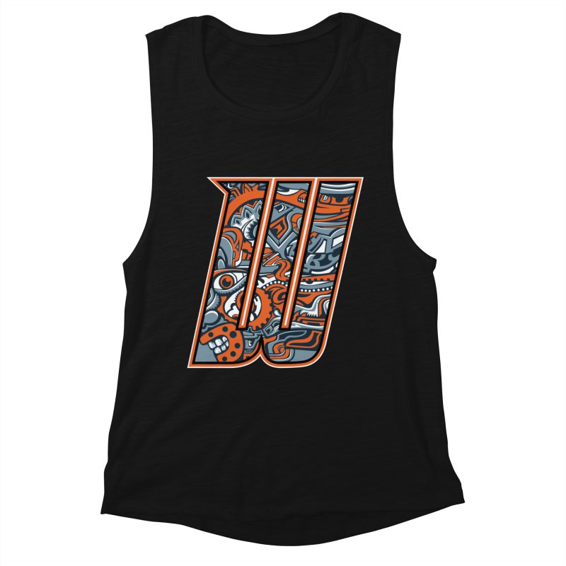 Crazy Face Alphabet (W) Women's Tank by Yaky's Customs