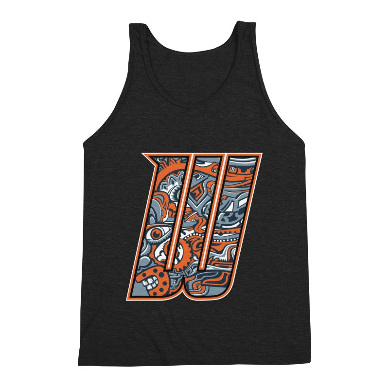 Crazy Face_W002 Men's Triblend Tank by Art of Yaky Artist Shop