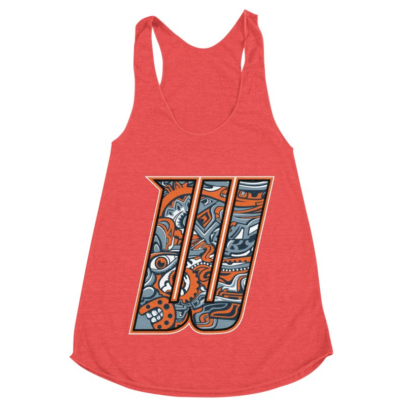 Crazy Face_W002 Women's Tank by Art of Yaky Artist Shop