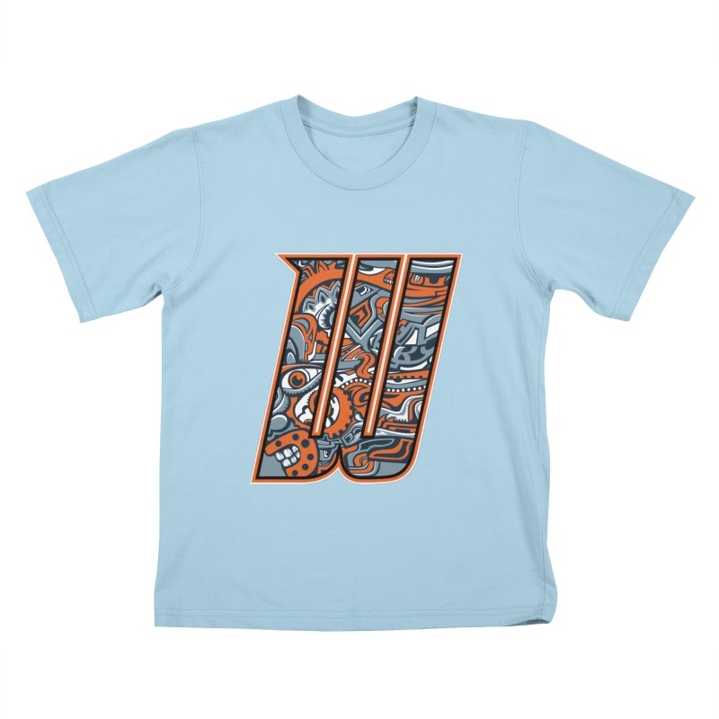 Crazy Face_W002 Kids T-Shirt by Art of Yaky Artist Shop