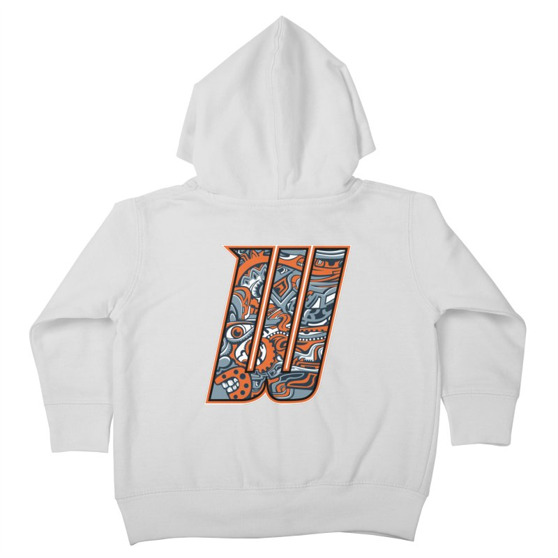 Crazy Face_W002 Kids Toddler Zip-Up Hoody by Art of Yaky Artist Shop