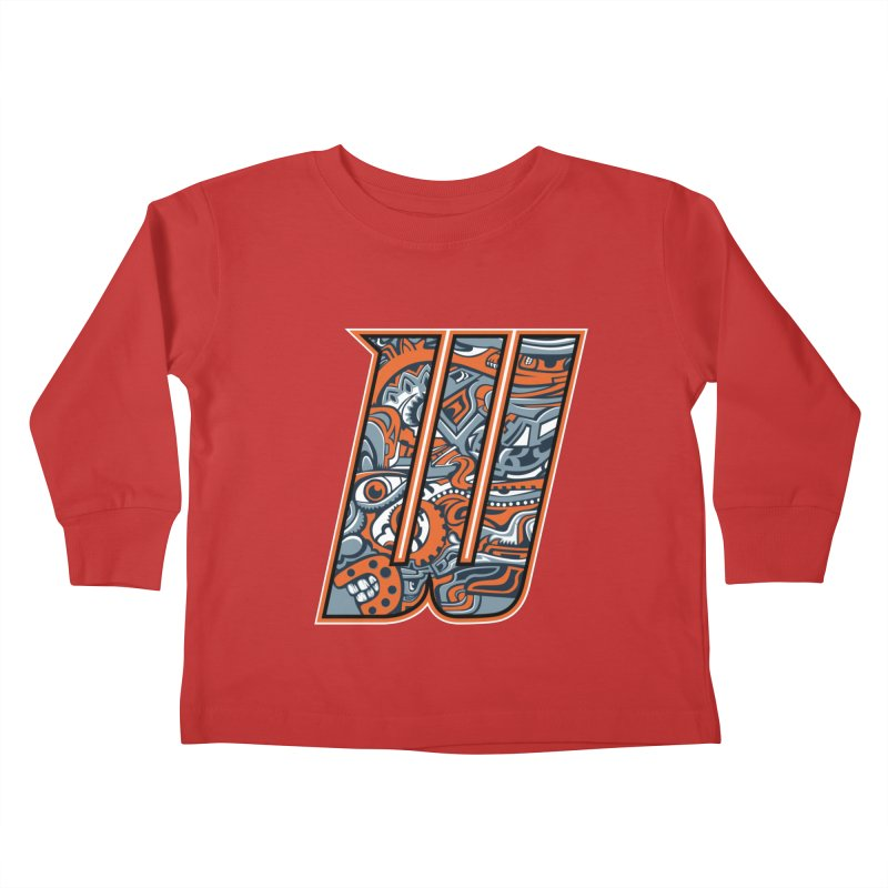 Crazy Face_W002 Kids Toddler Longsleeve T-Shirt by Art of Yaky Artist Shop
