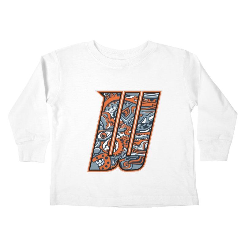 Crazy Face_W002 Kids Toddler Longsleeve T-Shirt by Art of Yaky Artist Shop