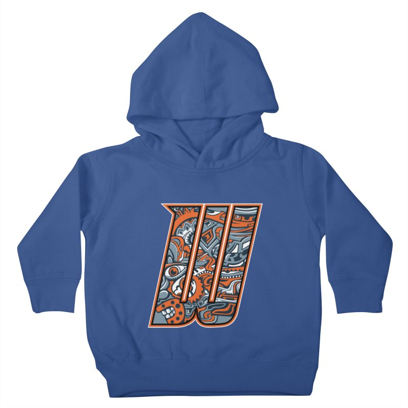 Crazy Face_W002 Kids Toddler Pullover Hoody by Art of Yaky Artist Shop