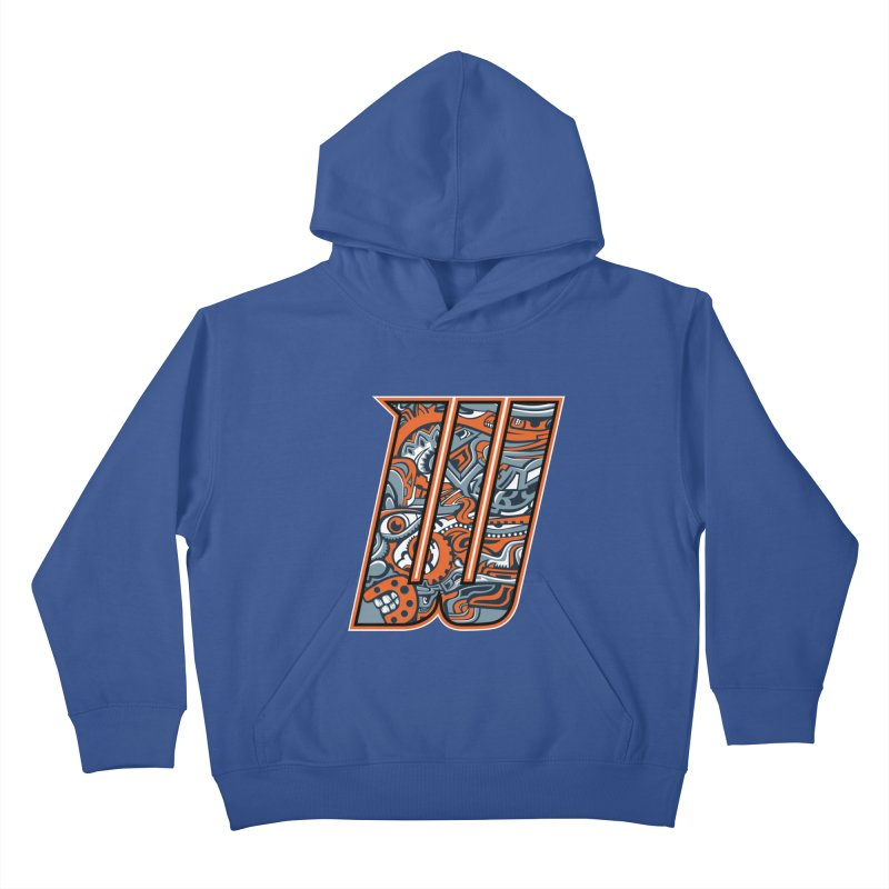 Crazy Face_W002 Kids Pullover Hoody by Art of Yaky Artist Shop