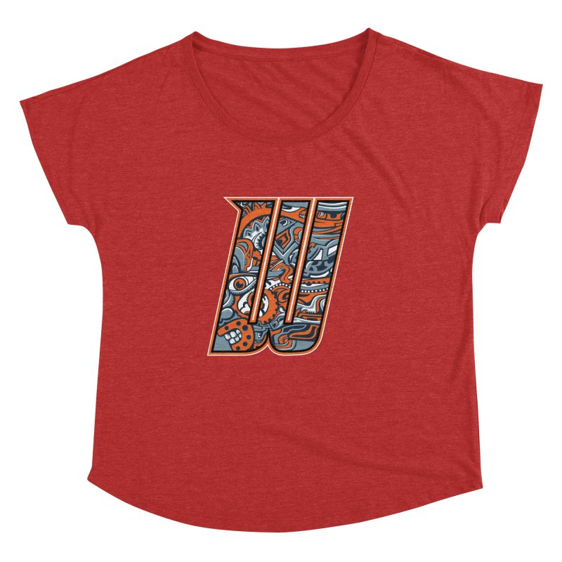 Crazy Face_W002 Women's Dolman Scoop Neck by Art of Yaky Artist Shop