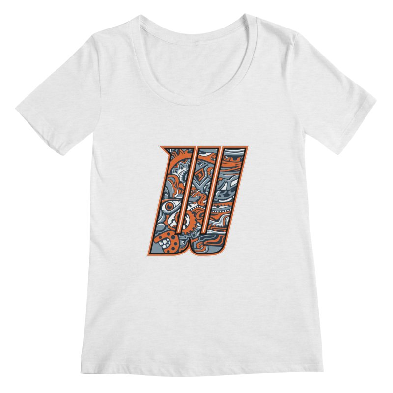 Crazy Face_W002 Women's Regular Scoop Neck by Art of Yaky Artist Shop