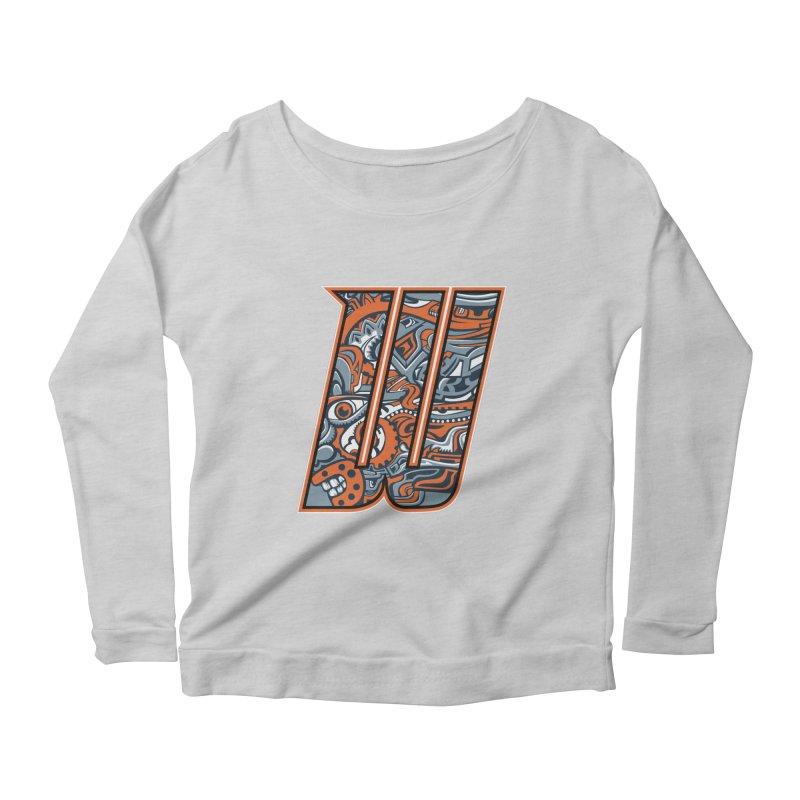 Crazy Face_W002 Women's Scoop Neck Longsleeve T-Shirt by Art of Yaky Artist Shop
