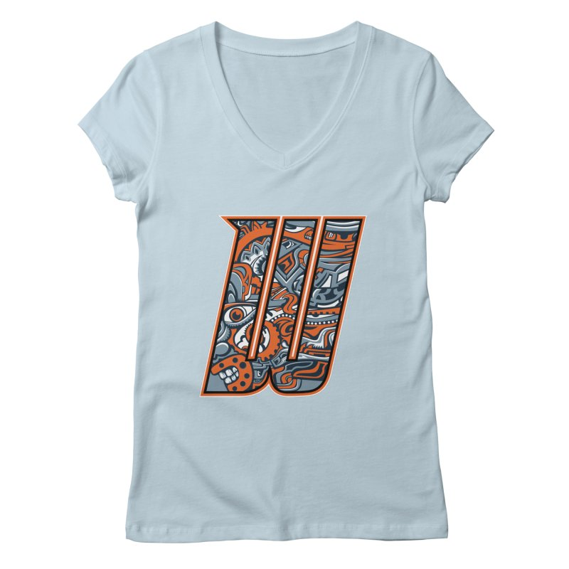 Crazy Face_W002 Women's Regular V-Neck by Art of Yaky Artist Shop
