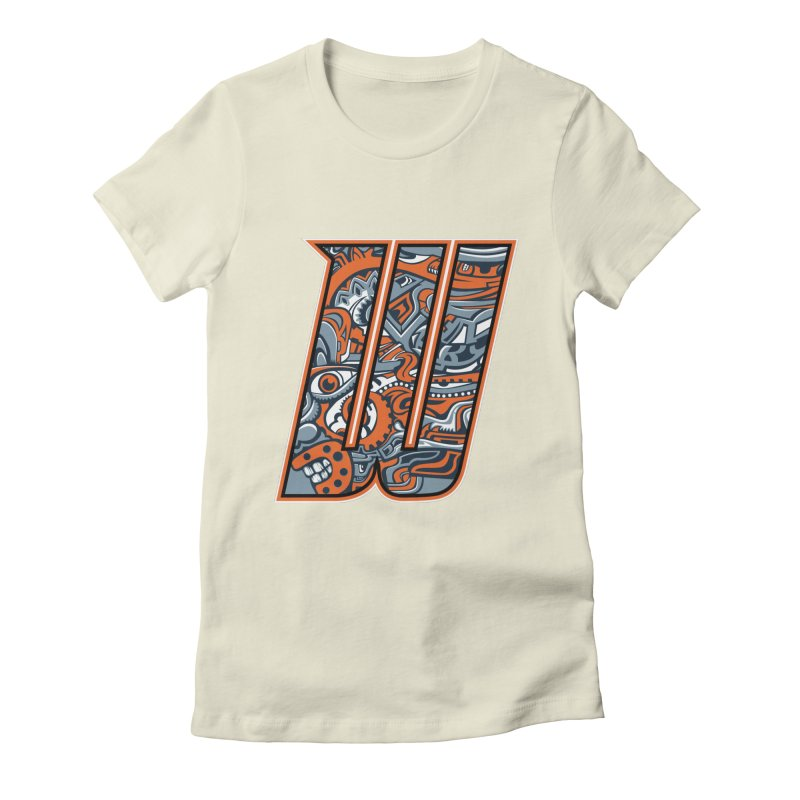 Crazy Face_W002 Women's T-Shirt by Art of Yaky Artist Shop