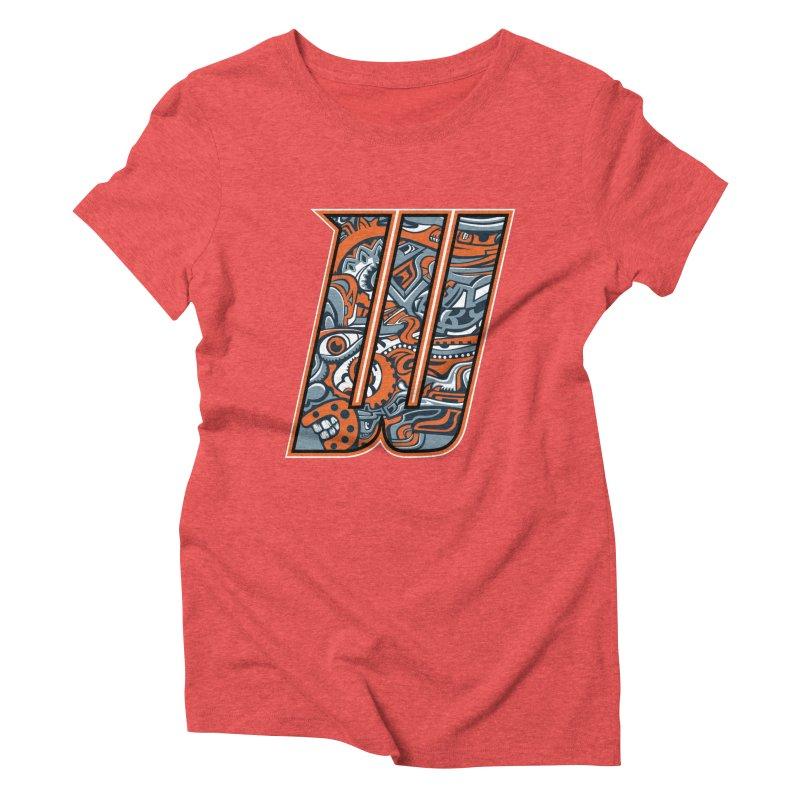 Crazy Face_W002 Women's Triblend T-Shirt by Art of Yaky Artist Shop