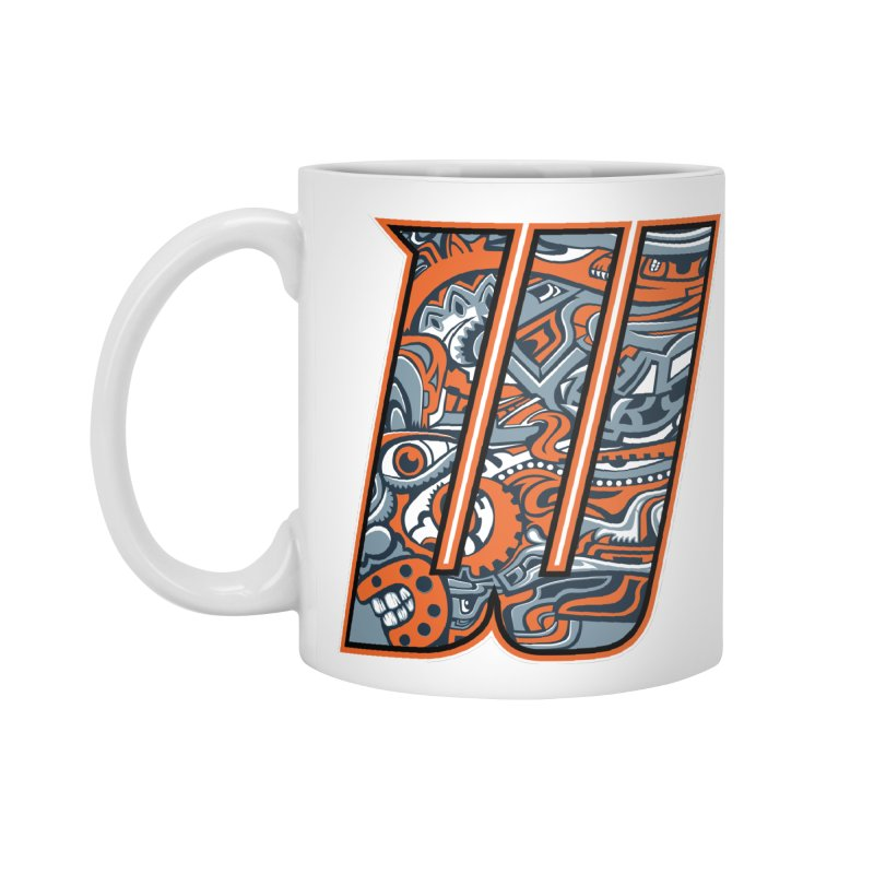 Crazy Face_W002 Accessories Mug by Art of Yaky Artist Shop