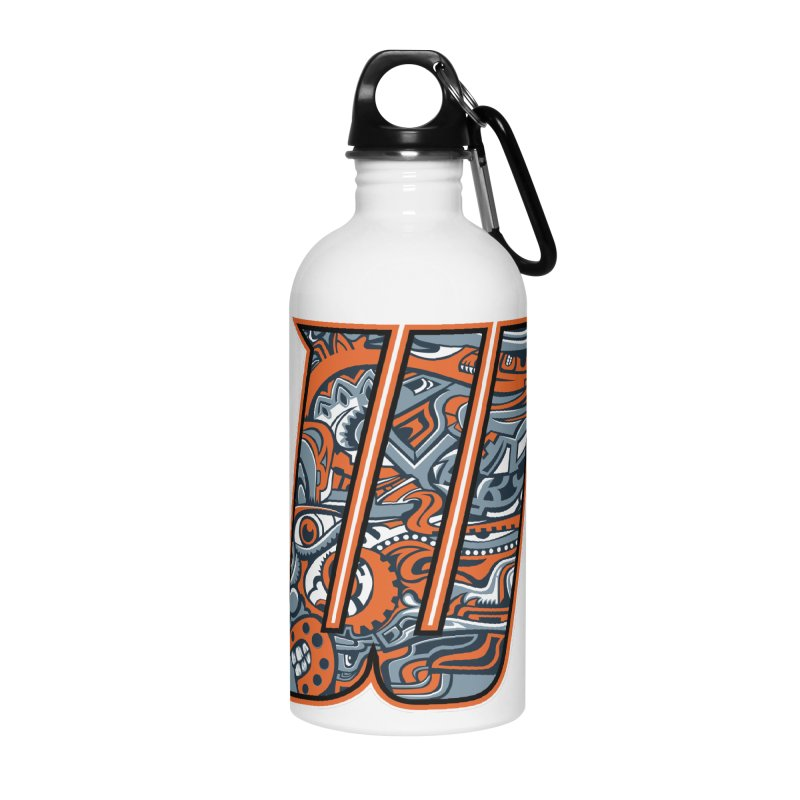 Crazy Face_W002 Accessories Water Bottle by Art of Yaky Artist Shop
