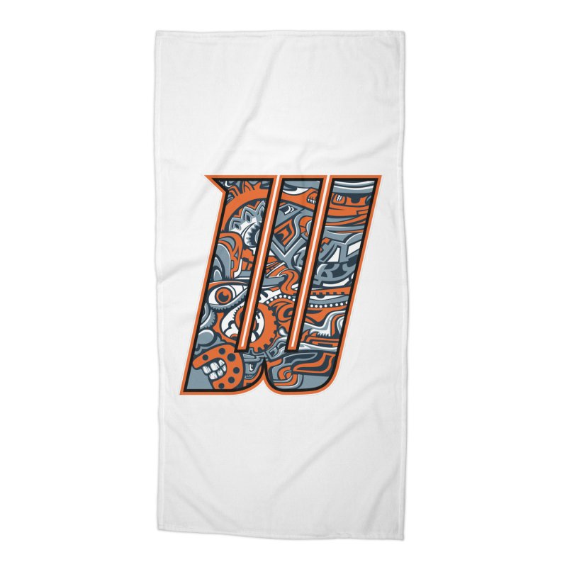 Crazy Face_W002 Accessories Beach Towel by Art of Yaky Artist Shop