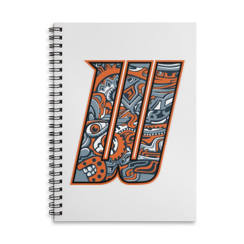 Crazy Face_W002 Accessories Lined Spiral Notebook by Art of Yaky Artist Shop