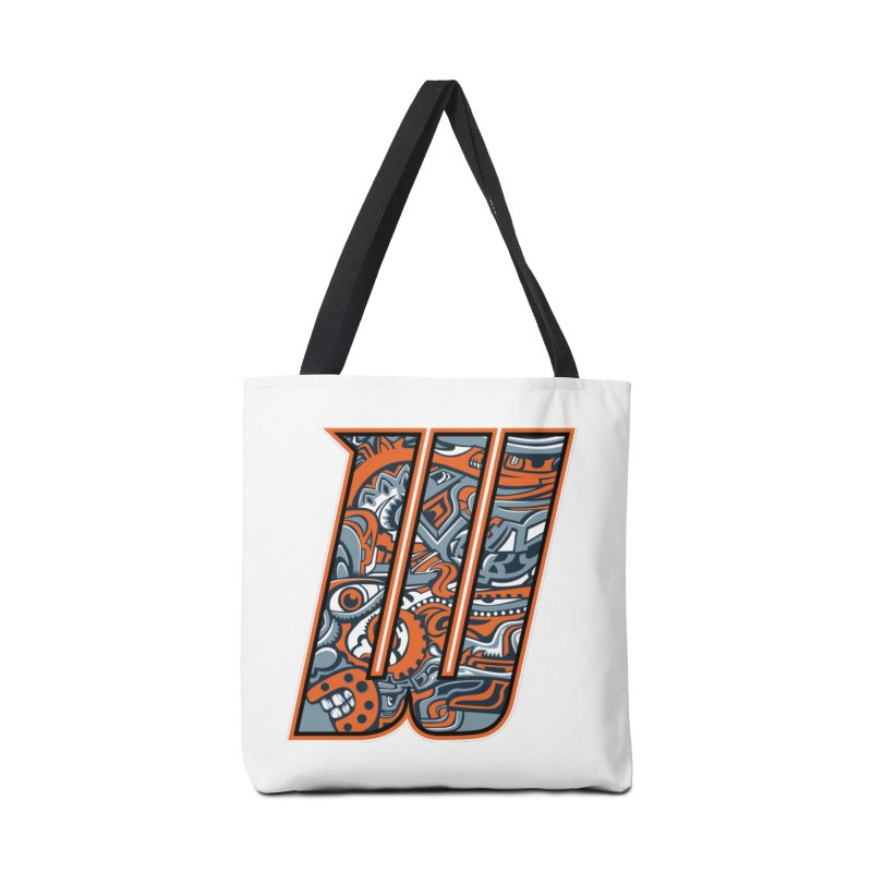Crazy Face_W002 Accessories Tote Bag Bag by Art of Yaky Artist Shop