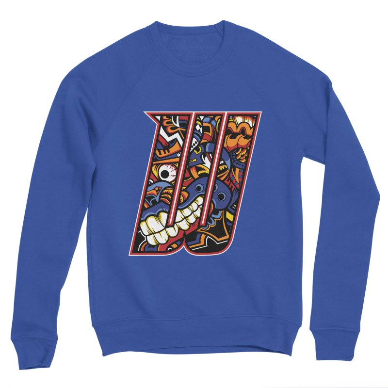 Crazy Face_W003 Men's Sweatshirt by Art of Yaky Artist Shop